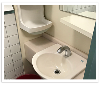 待合室トイレ洗面台